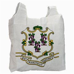 Coat Of Arms Of Connecticut Recycle Bag (one Side) by abbeyz71