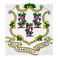 Coat Of Arms Of Connecticut Shower Curtain 66  X 72  (large)