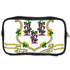 Coat Of Arms Of Connecticut Toiletries Bag (two Sides) by abbeyz71