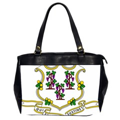 Coat Of Arms Of Connecticut Oversize Office Handbag (2 Sides) by abbeyz71
