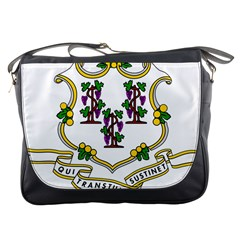 Coat Of Arms Of Connecticut Messenger Bag by abbeyz71