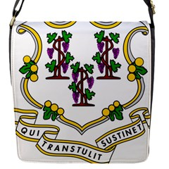 Coat Of Arms Of Connecticut Flap Closure Messenger Bag (s) by abbeyz71