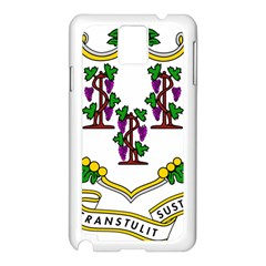 Coat Of Arms Of Connecticut Samsung Galaxy Note 3 N9005 Case (white) by abbeyz71