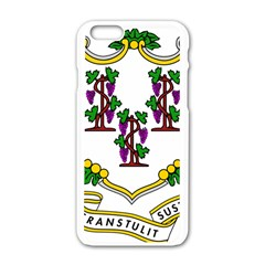Coat Of Arms Of Connecticut Apple Iphone 6/6s White Enamel Case