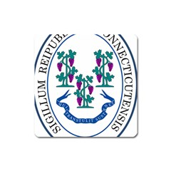 Great Seal Of Connecticut Square Magnet