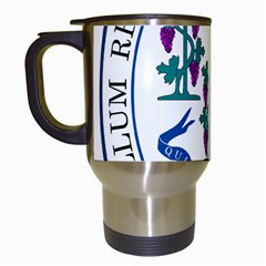 Great Seal Of Connecticut Travel Mugs (white) by abbeyz71