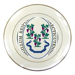 Great Seal Of Connecticut Porcelain Plates