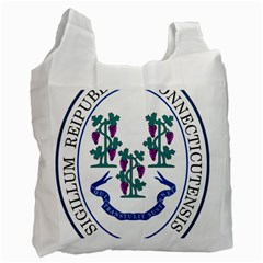 Great Seal Of Connecticut Recycle Bag (one Side) by abbeyz71