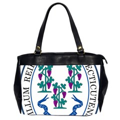 Great Seal Of Connecticut Oversize Office Handbag (2 Sides) by abbeyz71