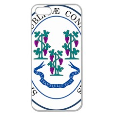 Great Seal Of Connecticut Apple Seamless Iphone 5 Case (clear)
