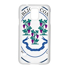 Great Seal Of Connecticut Samsung Galaxy S5 Case (white)