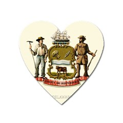 Historical Coat Of Arms Of Delaware Heart Magnet by abbeyz71