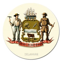 Historical Coat Of Arms Of Delaware Magnet 5  (round) by abbeyz71