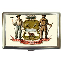 Historical Coat Of Arms Of Delaware Cigarette Money Case