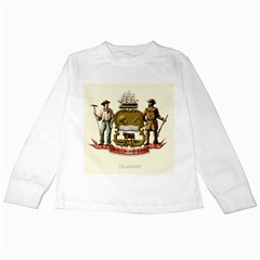 Historical Coat Of Arms Of Delaware Kids Long Sleeve T Shirts