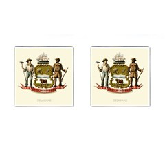 Historical Coat Of Arms Of Delaware Cufflinks (square) by abbeyz71