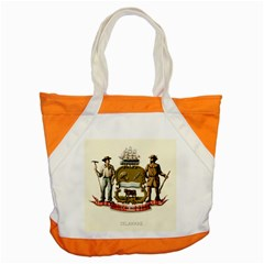 Historical Coat Of Arms Of Delaware Accent Tote Bag by abbeyz71