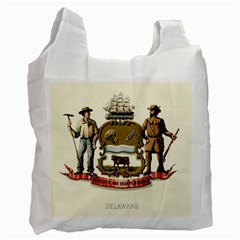 Historical Coat Of Arms Of Delaware Recycle Bag (two Side)