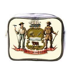 Historical Coat Of Arms Of Delaware Mini Toiletries Bag (one Side) by abbeyz71