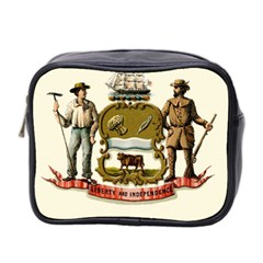Historical Coat Of Arms Of Delaware Mini Toiletries Bag (two Sides)