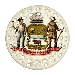Historical Coat Of Arms Of Delaware Ornament (round Filigree) by abbeyz71