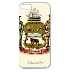 Historical Coat Of Arms Of Delaware Apple Seamless Iphone 5 Case (clear)