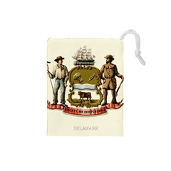 Historical Coat Of Arms Of Delaware Drawstring Pouch (small)