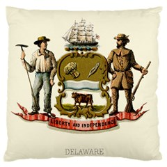 Historical Coat Of Arms Of Delaware Large Flano Cushion Case (two Sides)