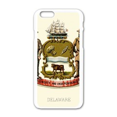 Historical Coat Of Arms Of Delaware Apple Iphone 6/6s White Enamel Case by abbeyz71