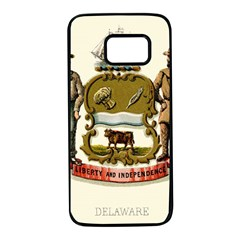 Historical Coat Of Arms Of Delaware Samsung Galaxy S7 Black Seamless Case