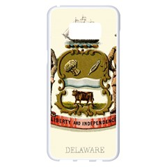 Historical Coat Of Arms Of Delaware Samsung Galaxy S8 Plus White Seamless Case by abbeyz71