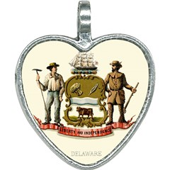 Historical Coat Of Arms Of Delaware Heart Necklace by abbeyz71
