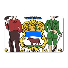 Delaware Coat Of Arms Magnet (rectangular) by abbeyz71