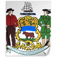 Delaware Coat Of Arms Canvas 16  X 20
