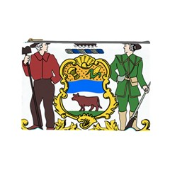 Delaware Coat Of Arms Cosmetic Bag (large)