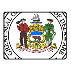 Great Seal Of Delaware Fleece Blanket (small)