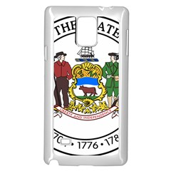 Great Seal Of Delaware Samsung Galaxy Note 4 Case (white) by abbeyz71