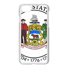 Great Seal Of Delaware Apple Iphone 7 Seamless Case (white)