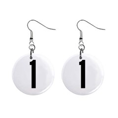 Delaware Route 1 Marker Mini Button Earrings