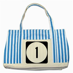 Delaware Route 1 Marker Striped Blue Tote Bag