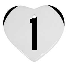Delaware Route 1 Marker Heart Ornament (two Sides) by abbeyz71