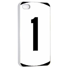 Delaware Route 1 Marker Apple Iphone 4/4s Seamless Case (white)