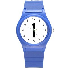 Delaware Route 1 Marker Round Plastic Sport Watch (s) by abbeyz71
