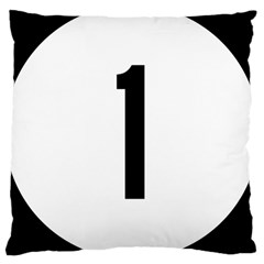 Delaware Route 1 Marker Large Cushion Case (one Side) by abbeyz71