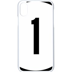 Delaware Route 1 Marker Apple Iphone X Seamless Case (white)
