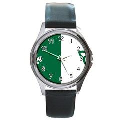 Franco Ontarian Flag Round Metal Watch by abbeyz71