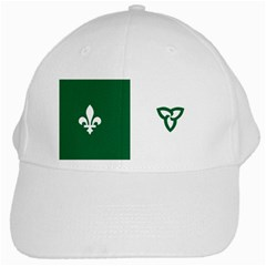 Franco Ontarian Flag White Cap by abbeyz71