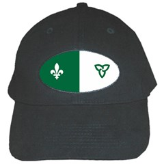 Franco Ontarian Flag Black Cap by abbeyz71