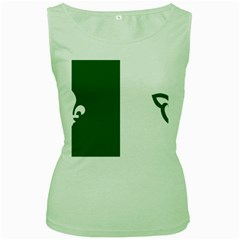 Franco Ontarian Flag Women s Green Tank Top by abbeyz71