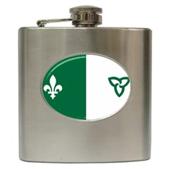 Franco Ontarian Flag Hip Flask (6 Oz)